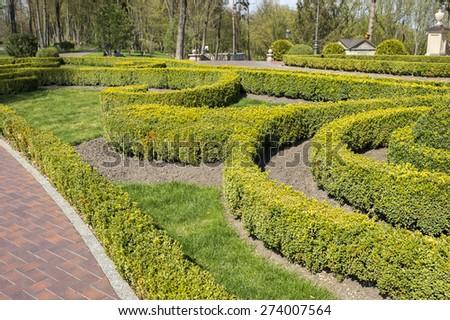 landscape design park - stock photo