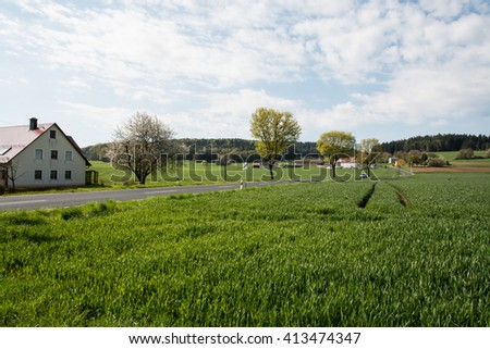 Landscape.Forest.village.Fields.Spring.