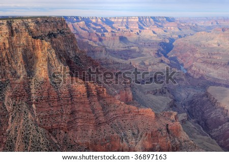 Landscape from Lipan Point, South Rim, Grand Canyon National Park, Arizona, USA