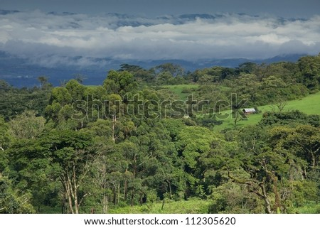 Landscape in Bamenda Highlands, Cameroon, Africa - stock photo