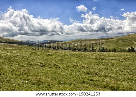 Landscape in Bucegi Mountains, Romania