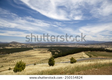 Landscape in Canberra, Australia - stock photo