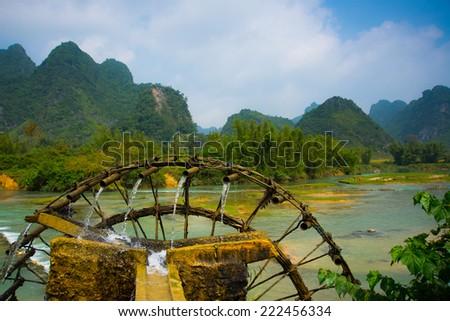 Landscape in Cao Bang, Vietnam