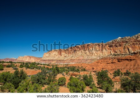 Landscape in Capitol Reef National Park, USA.