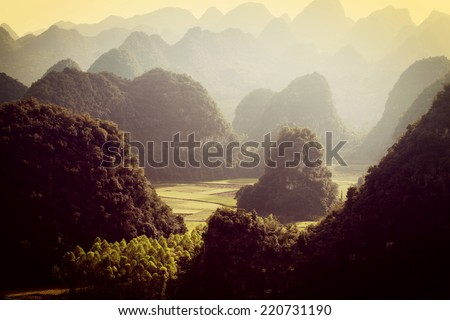 landscape in China  - stock photo