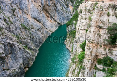 Landscape in Congost de Mont-rebei ,  Spain - stock photo