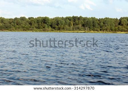 landscape in lake - stock photo