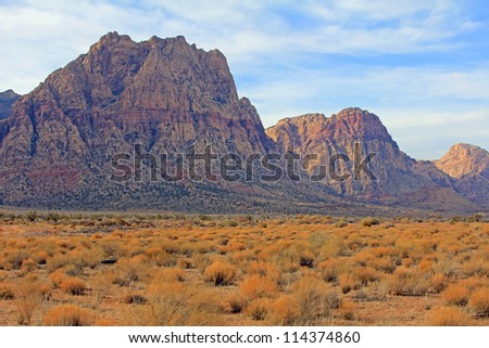Landscape in Red Rock Canyon, Nevada