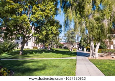 Landscape In Santa Clara Mission Gardens; South San Francisco Bay Area,  California