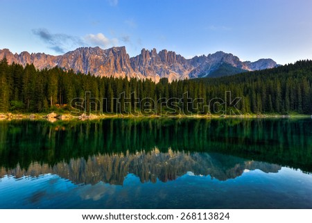 Landscape in the Italian Alps - stock photo