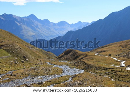 landscape in the upper Valnontey - Gran Paradiso National Park