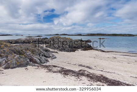 Landscape in the West Highlands of Scotland near Arisaig - stock photo