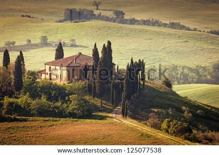 Landscape in Tuscany - stock photo