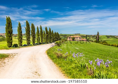 Landscape in Tuscany, Italy - stock photo