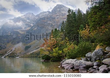 "Landscape. Lake ""Sea Eye"" in the Tatra mountains - stock photo"