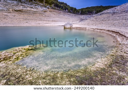 Landscape lake. Spain - stock photo