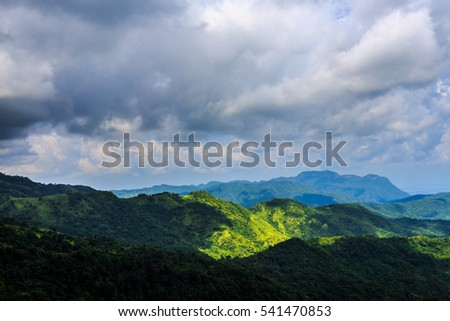 landscape mountain with sky and cloudy at Khao-kho Phetchabun Thailand