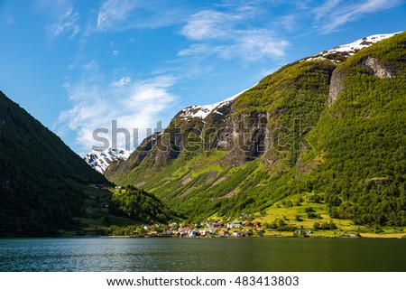 Landscape near Flam, Norway.
