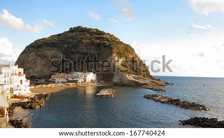 landscape near Ischia island Italy - stock photo