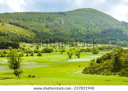 landscape near Verdon, Provence, France - stock photo