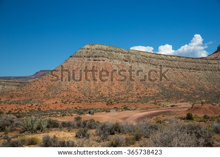 Landscape near Zion Canyon in Utah.