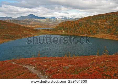landscape norway - stock photo