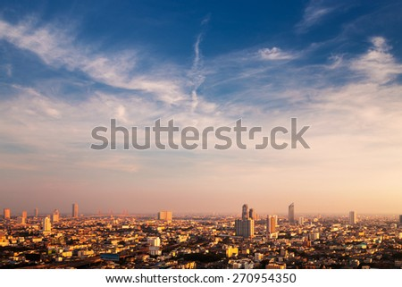 Landscape of Bangkok city day view - stock photo