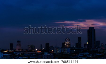 Landscape of  Bangkok city , Thailand .