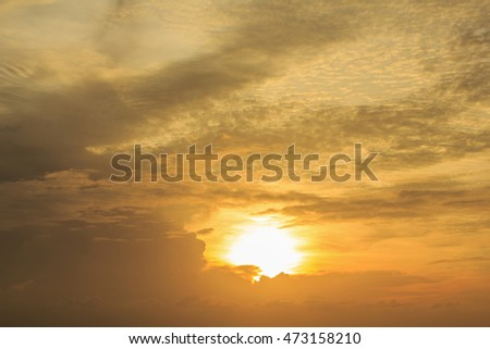landscape of beautiful cloudy sky at dawn (can use as background)