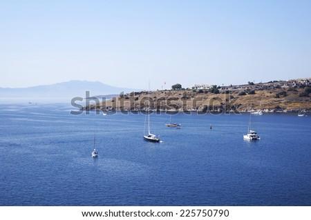 Landscape of beautiful sea near city of Bodrum, Turkey - stock photo