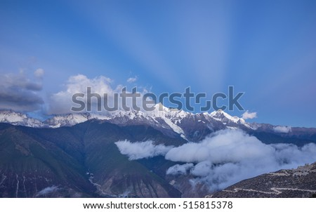 Landscape of China Yunnan Meili Snow Mountain