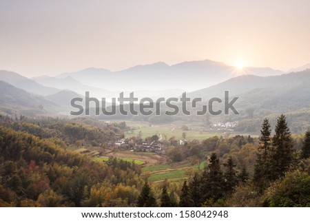 landscape of countryside - stock photo