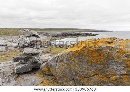 Landscape of County Clare, Ireland (selective focus)