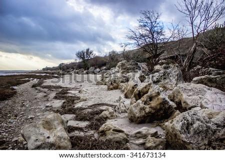 Landscape of Crimea - stock photo
