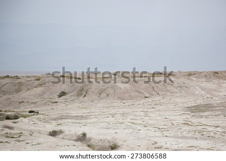 Landscape of dry land   in the Middle East - stock photo