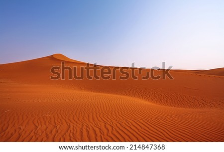 Landscape of dunes in sossusvlei, Namibia - stock photo