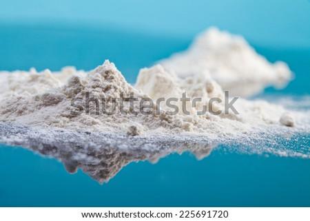 Landscape of flour - stock photo