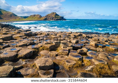Landscape of Giant's Causeway Northern Ireland