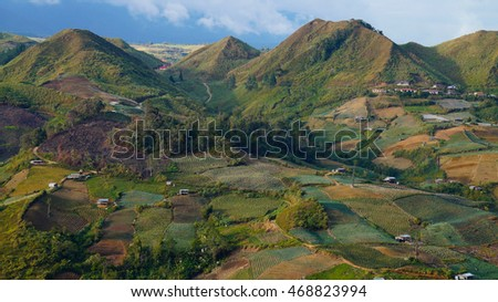 Landscape of hilly Area