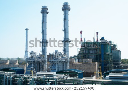 landscape of industrial building - stock photo
