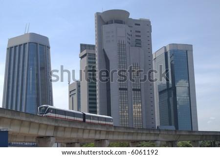 Landscape of Kuala Lumpur, Malaysia - stock photo