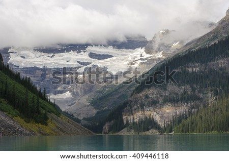 landscape of lake louise in Alberta Canada