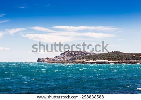 Landscape of lescala, Costa Brava. - stock photo