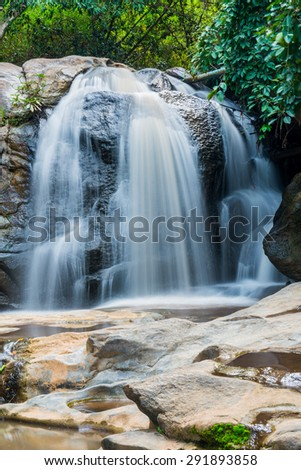 Landscape of Maesa waterfall, Thailand. - stock photo
