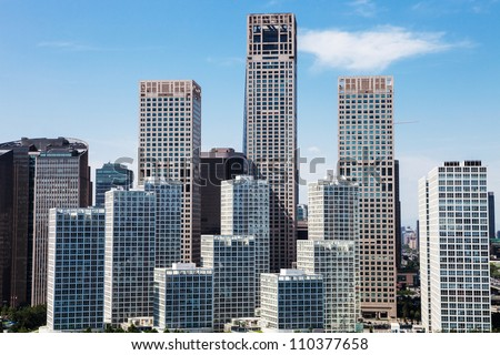landscape of modern city ,beijing - stock photo