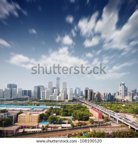 landscape of modern city ,China - stock photo