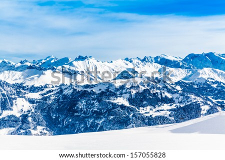 Landscape of Mountain - stock photo