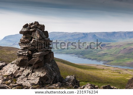 Landscape of mountains in Iceland