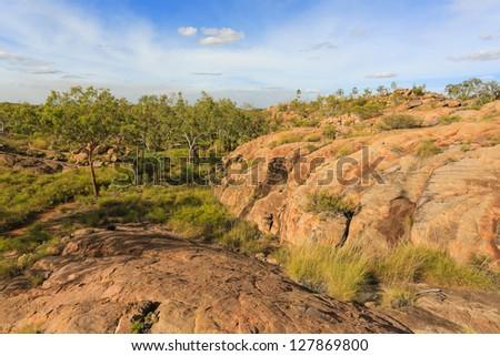 Landscape of Nitmiluk National Park - stock photo