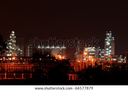 landscape of oil  refinery factory